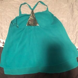 Teal Tank from Maurices w/ Beaded Accent Piece